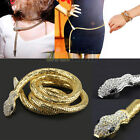 New Women's Girl's Crystal Snake Pendants Necklace Long Sweater Coat Chain Belt