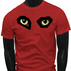 Snake Ghost Raven Eagle Eyes  Scary Cat Mens Red T-Shirt