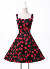 8 STYLE FLORAL Vintage Swing Work 50s Retro Pin Up Short Prom Dress