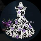 Women's 50s Hepburn Style Wedding Party Prom Vintage Dress