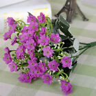 Colorful Artificial Silk Orchid Flower Leaf Plant Home Wedding Celebration Decor