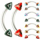 2Pcs curved barbell tragus ring lip bar piercing steel 9CSP -SELECT DESIGN&SIZE