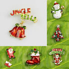 2015 NEW Bell Theme Unique Design X'mas Brooches Pins Merry Christmas Gold Gifts