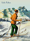 Lake Tahoe Lady California Ski Winter Sport Europe Vintage Poster Repro FREE S/H