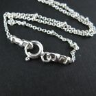 Sterling Silver Necklace-Satellite Chain-Beaded Ball Chain 1.8mm (All Sizes)