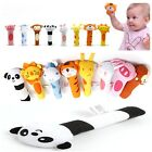 Educational Colorful Animals Soft Stuffed Infant Plush Toy Rattle Kids Baby LD