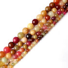 6/8/10/12mm Round Multicolor Jade Gemstone Beads Jewelry Making Loose Strand 15""