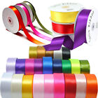Quality Reels of  Double Sided Satin Ribbon Lengths 3mm 6mm 10mm 16mm 25mm 38mm