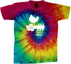Woodstock tie dye t-shirt peace and music shirt tie dyed guitar shirt tee shirt image