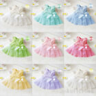 Cute Baby Girls Kids Toddler Lace Princess Bow Flower Tutu Flower Dresses Party