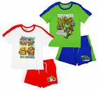 Boys TMNT Teenage Mutant Ninja Turtles Brothers T-Shirt & Shorts Set 3-8 Years