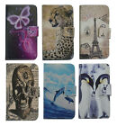 High-level PU Leather Phone Case Cover Printed Dolphin for Samsung