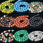 8mm Faceted Agate Loose Round Beads Wholesale Gemstone