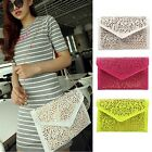 Women Fashion Handbag Cutout Clutch Envelope Bag Shoulder Crossbody Bag 3color Z