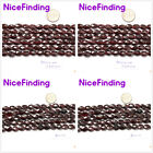 Oval Faceted Garnet Natural Stone Jewelry Making Loose Beads Gemstone 15""