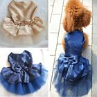 1PC Cute Pet Dog Puppy Dresses Apparel Bow Tutu Party Wedding Skirt Dress W