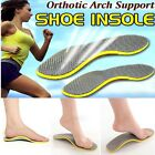 NEW CUTTABLE ORTHOTIC FOOT FLEXFLOW HIGH ARCH SUPPORT FLAT FEET PAD INSOLES  Z