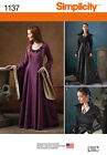 PATTERN SIMPLICITY Cosplay Game of Thrones Black Mockingbird Dress 6 to 22 1137