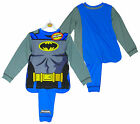 Boy's Official Batman Novelty Costume Pyjamas with Cape 2-8 yrs NEW