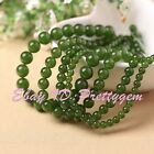 Round Green Taiwan Jade Gemstone Spacer Beads For DIY Jewelry Making Strand 15""