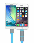 2in1 Lightning Micro USB Sync Charger Cable For iPhone 5 5s 5c 6 6plus S3 S4 S5
