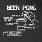 New Drinking T-shirt How To Play Beer Pong cups table 22 jump st dvd inspired