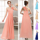 Top Bridesmaid Formal Wedding Party Ball Gown Evening Dress 1 Shoulder UK