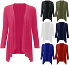 Womens Jersey Drape Waterfall Cardigan Ladies Casual Cardi Cover Plus Size 16-22