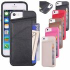 TPU +Leather Credit Card ID Holder Wallet Case Cover for iPhone 5S 6 Plus 7 Plus