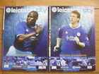 Leicester City Home Football Programmes 2003/2004 Season Inc FA Cup