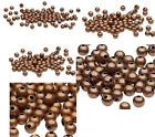 100 Antiqued Copper Finished Steel Metal Round Beads 2.5mm 3mm 4mm 6mm 8mm