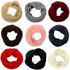 Women Winter Warm Infinity Circle Cable Knit Cowl Neck Long Shawl Scarf