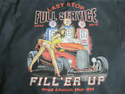 Last Stop Full Service Filler Up Hot Rod Girl Gas Pumps Hoodie Pull Over Black