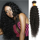 "Unprocessed INDIAN Human Hair Extension 10""-30"" Choice Natural Color Curly Wave"