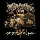 The Rodfather Hot Rod Rat Rod Old School Pin Stripes Hoodie Pull Over Black