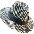 New Unisex Straw Handmade Hollow Out Pearl Outdoor Cap Wide Brim Sun Hat Visor