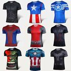 New! Men Marvel Costumes The Avengers SuperHeroes Batman T-Shirts Jersey Cycling