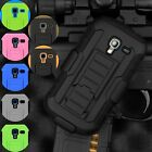 Full Armor Hybrid Case Cover Belt Clip Holster For Samsung Galaxy Exhibit T599