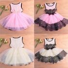 2015 New Baby Kids Girl Toddler Princess Flower Party Tutu Lace Fashion Dress