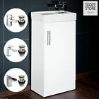 Compact Bathroom Vanity Unit&Basin Sink Cloakroom 400mm Free Standing Tap Option