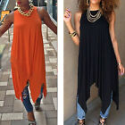 Boho Hippie Holiday Sexy Clubwear Loose Top Vest Blouse Shirt Pleated Long Dress