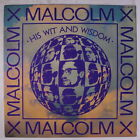 MALCOLM X: His Wit And Wisdom LP (sm tag/toc) Spoken Word