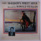 RONALD REAGAN: Freedom's Finest Hour LP (drill hole) Spoken Word