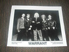 Warrant Group Band 80s Glam Rock 8x10 B&W Publicity Photo Promo