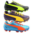 Puma EvoSpeed 5.2 FG Juniors Boys Kids Lace Up Football Boots (102887)