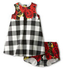 2015 New Baby Kids Girls Party Carnation Flower Print Summer Dress Outfits 2-7Y