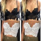 Women's Lace Floral Bralette Bralet Bra Bustier Crop Top Cami Padded Tank Sexy