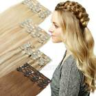Premium 100% Real Clip in Remy Human Hair Extensions Full Head Special Offer AU