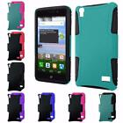 For Huawei Pronto LTE SnapTo H891L G620 Rubberized Slim Hybrid Cover Case