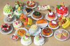 1:12 Scale Dolls House Flans & Desserts On A Ceramic Plate Kitchen Accessory ML7